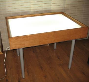 Стол для рисования песком с подсветкой сделать своими руками